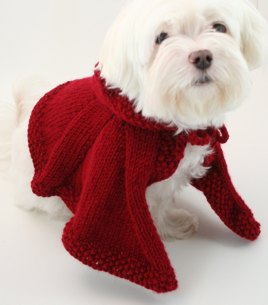 Knitted Dog Coat Pattern Knit Dog Cape Pattern Knit Dog Clothes