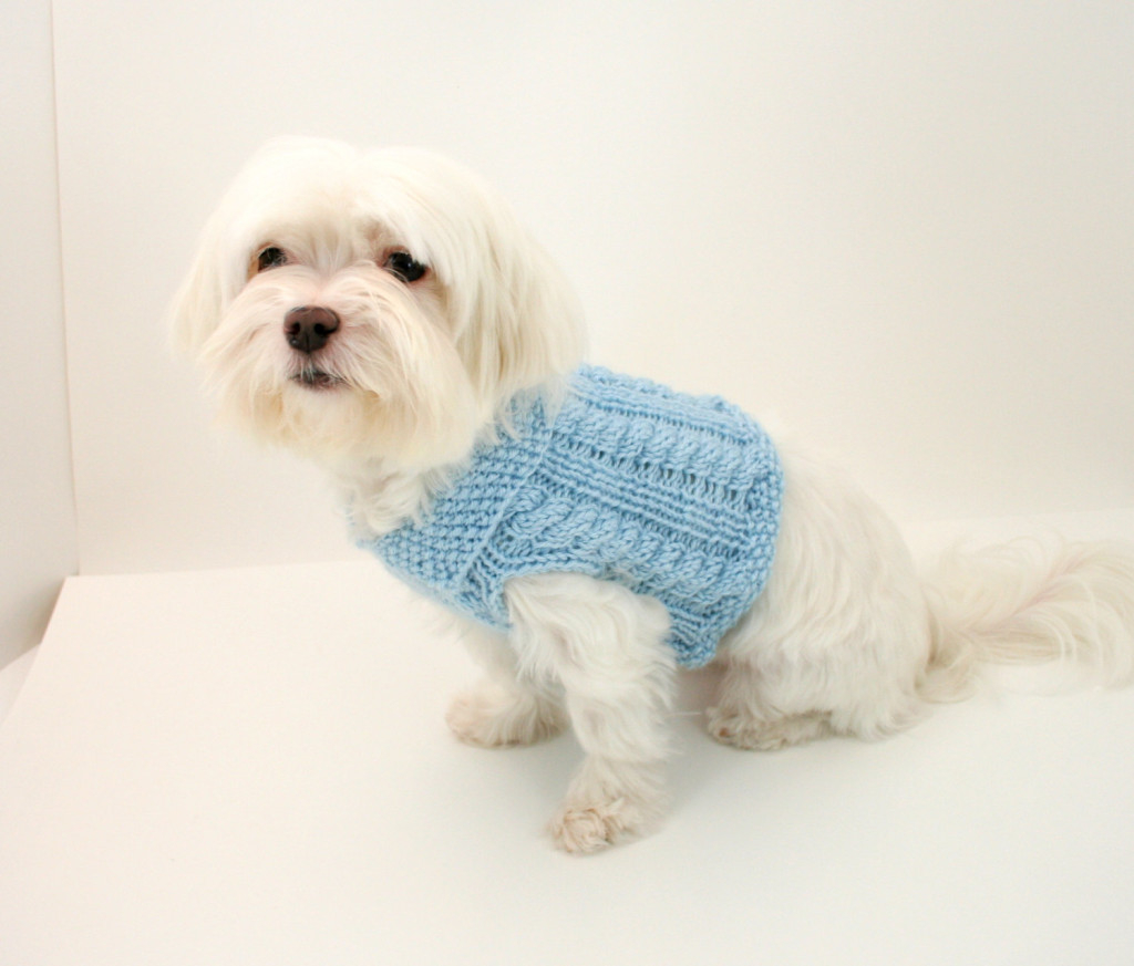 Knitted Dog Coat Pattern Knit Dog Sweater Pattern Cabled Dog Sweater