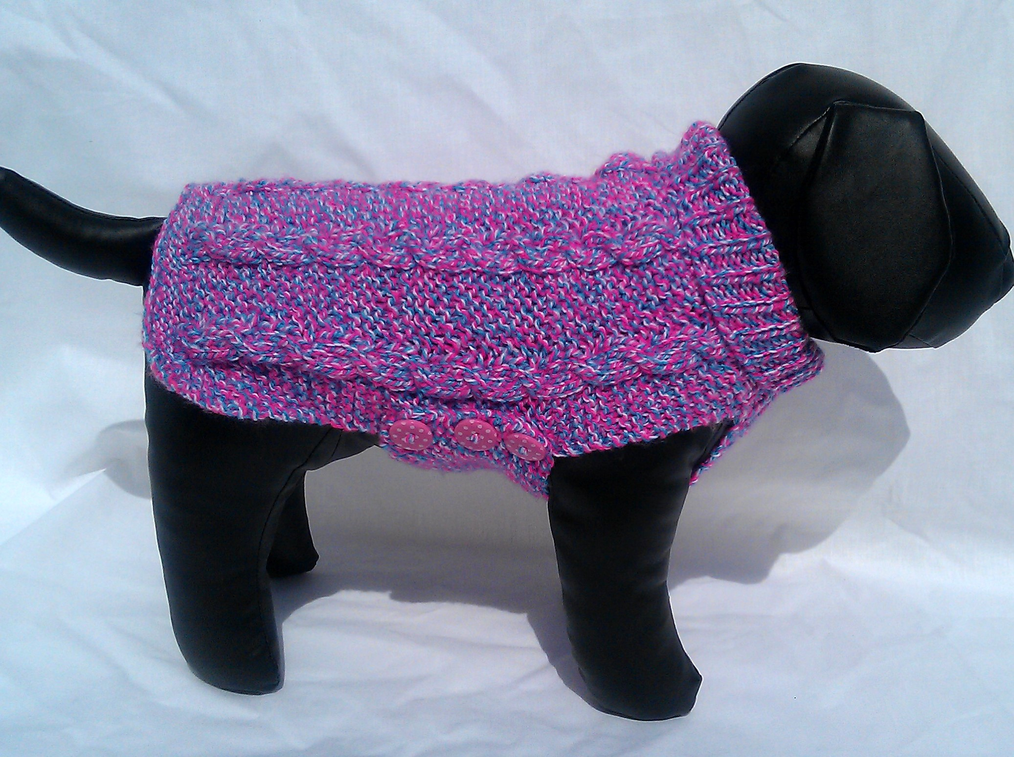 Knitted Dog Coat Pattern Missy Cable Knit Dog Coat