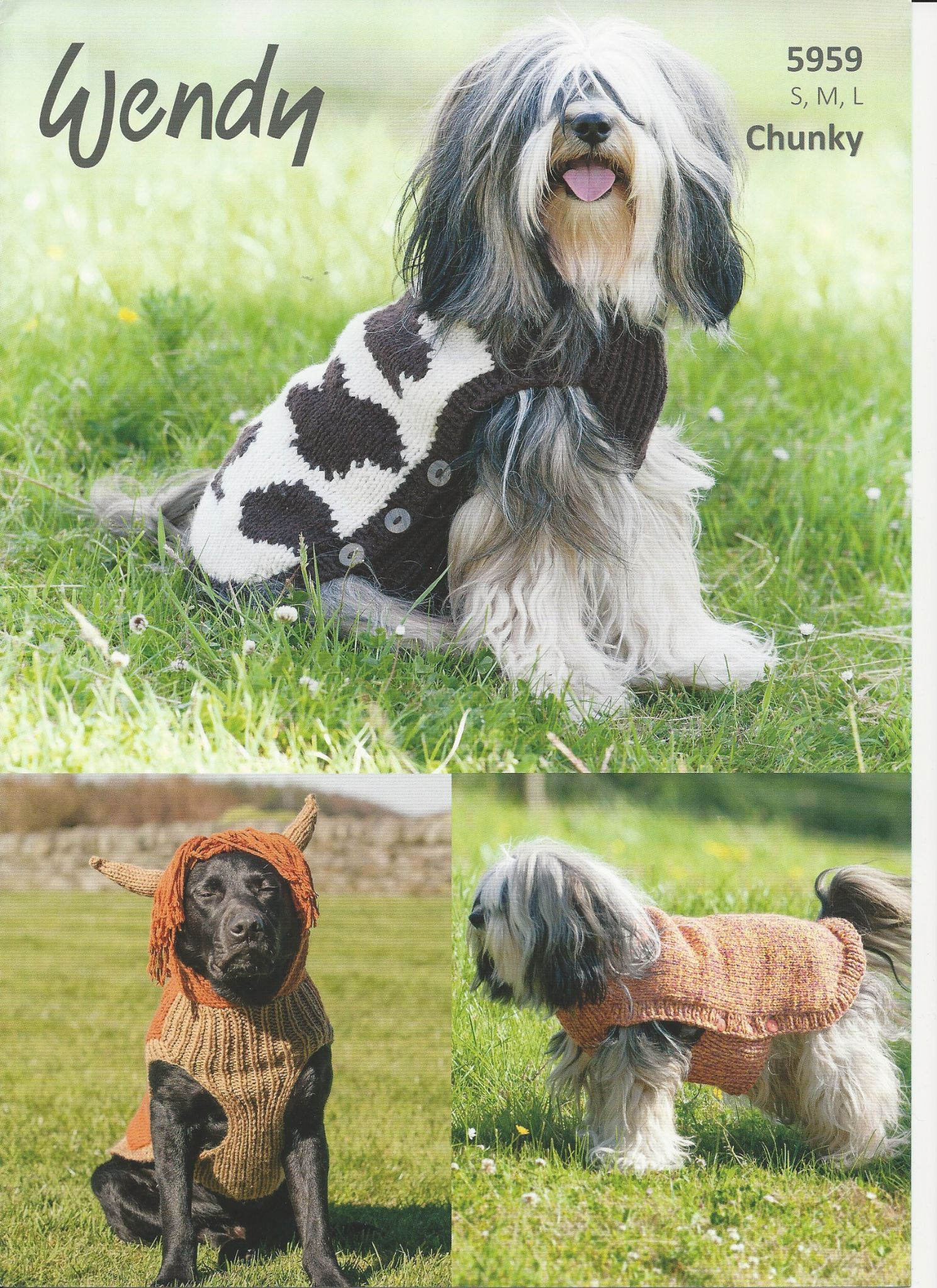 Knitted Dog Coat Pattern Wendy Dog Coats Chunky Knitting Pattern 5959