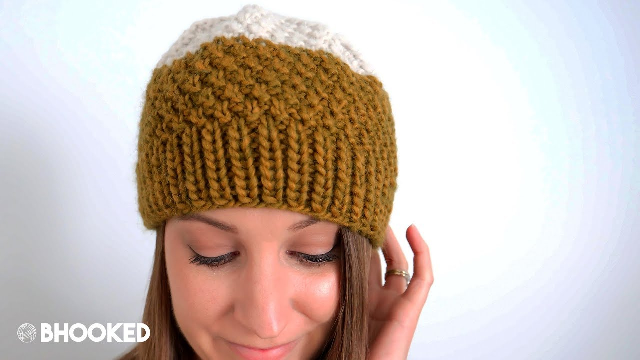Knitted Hats Patterns Double Moss Stitch Knit Hat Tutorial For Beginners