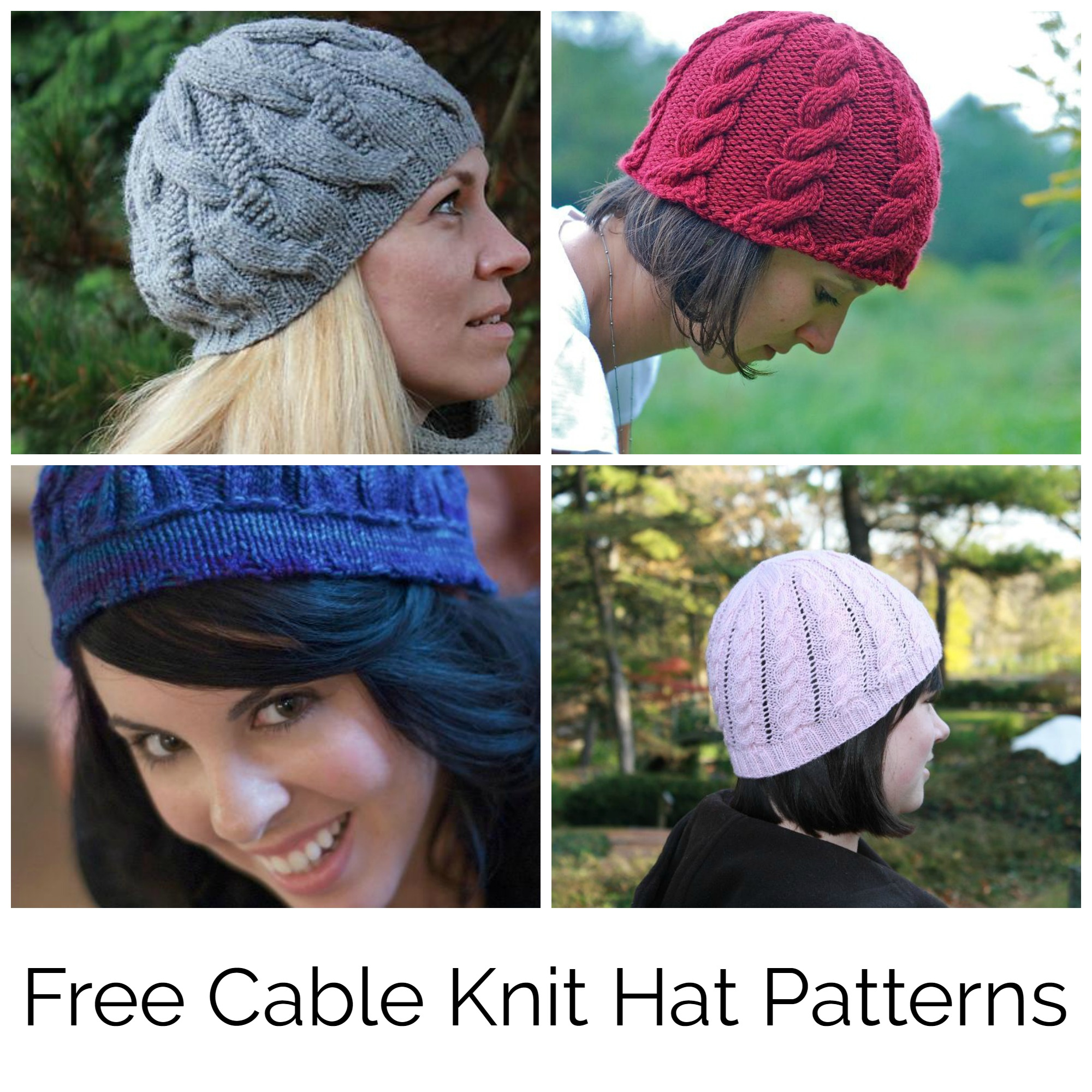 Knitted Hats Patterns Find Your Favorite Free Cable Knit Hat Pattern
