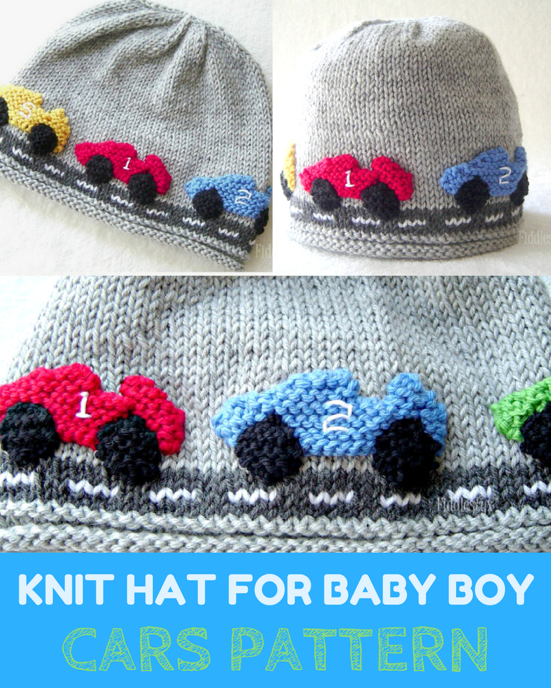 Knitted Hats Patterns Racing Car Knit Hat For Ba Boy Pattern Knitting News