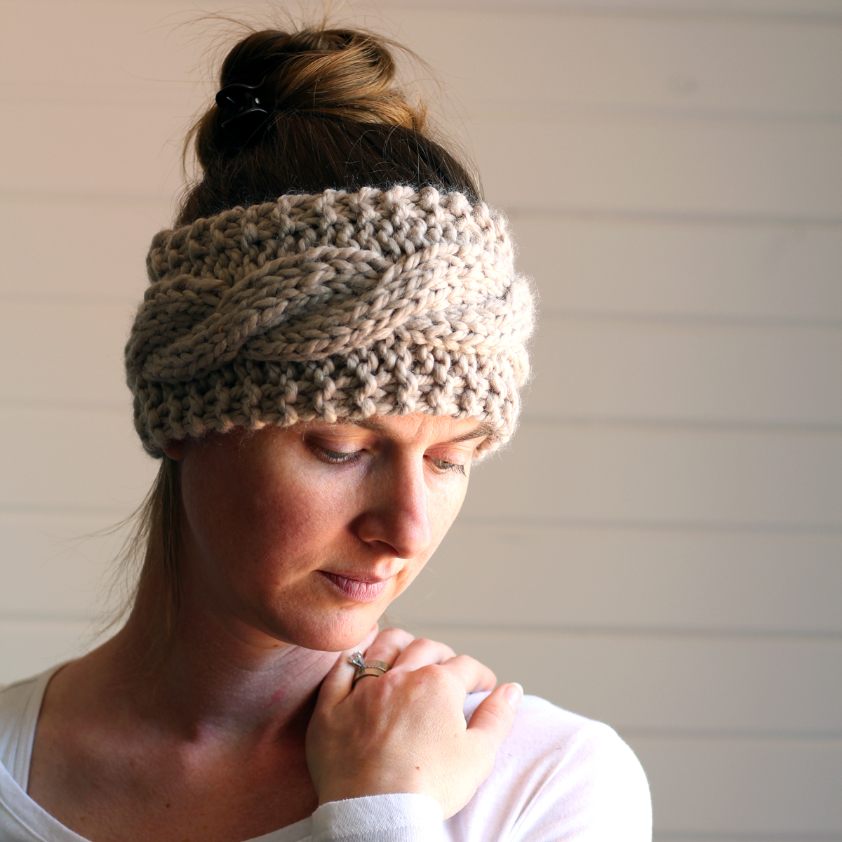 Knitted Headband Patterns With Flower Friendship Headband Knitting Pattern