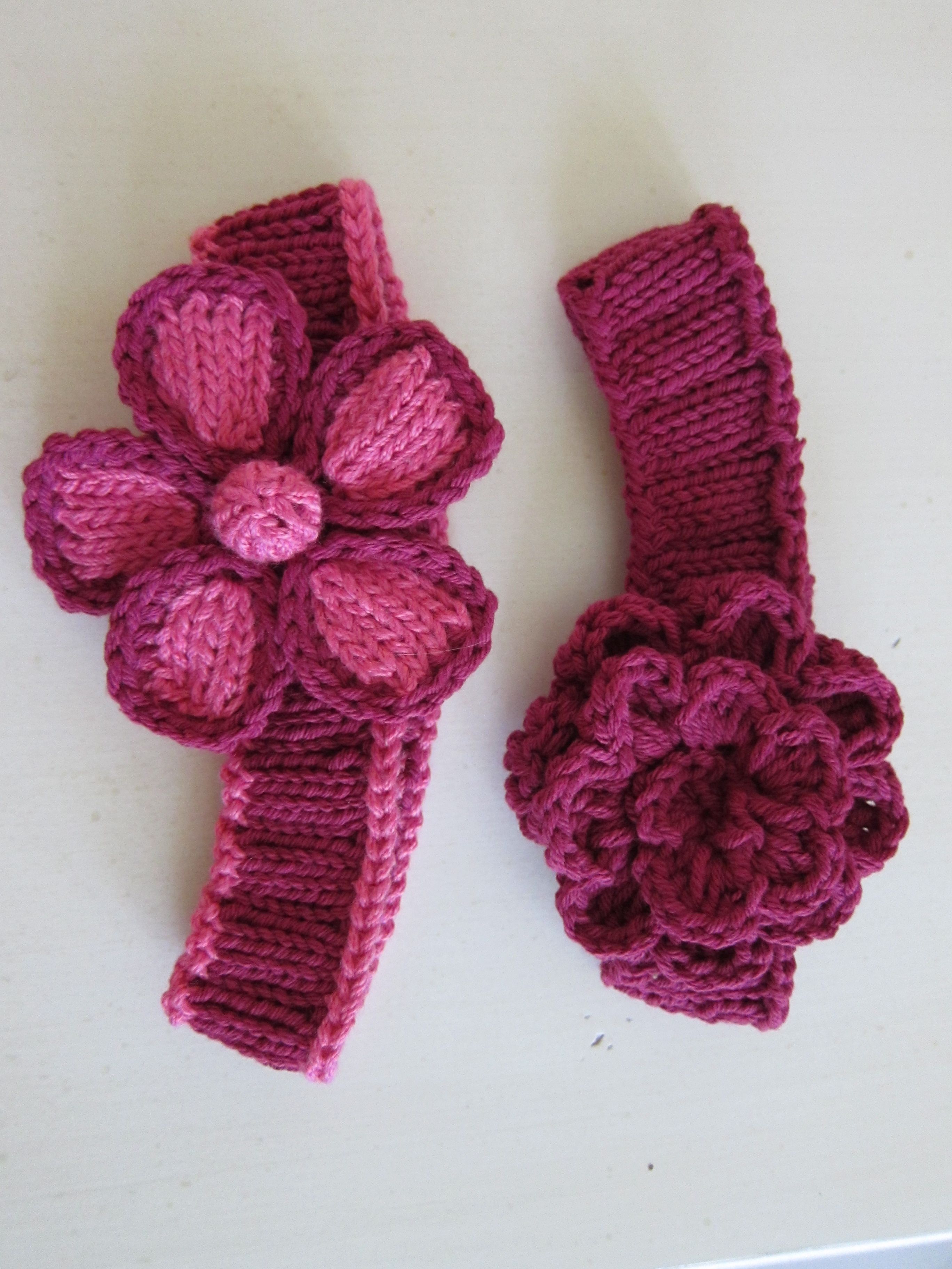 Knitted Headband With Flower Pattern 8 Knitted Headband With Flower Patterns The Funky Stitch