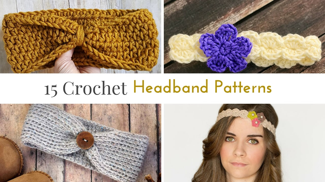 Knitted Headband With Flower Pattern Free Crochet Headband Patterns