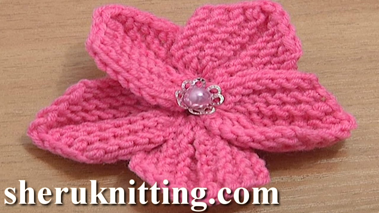 Knitted Headband With Flower Pattern How To Knit Flowers 39 Easy Knitting Patterns Allfreeknitting