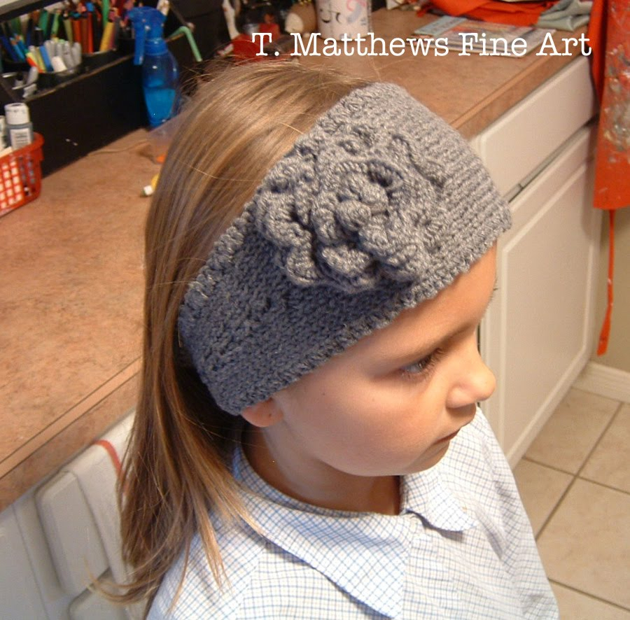 Knitted Headband With Flower Pattern T Matthews Fine Art Free Knitting Pattern Headband Ear Warmer