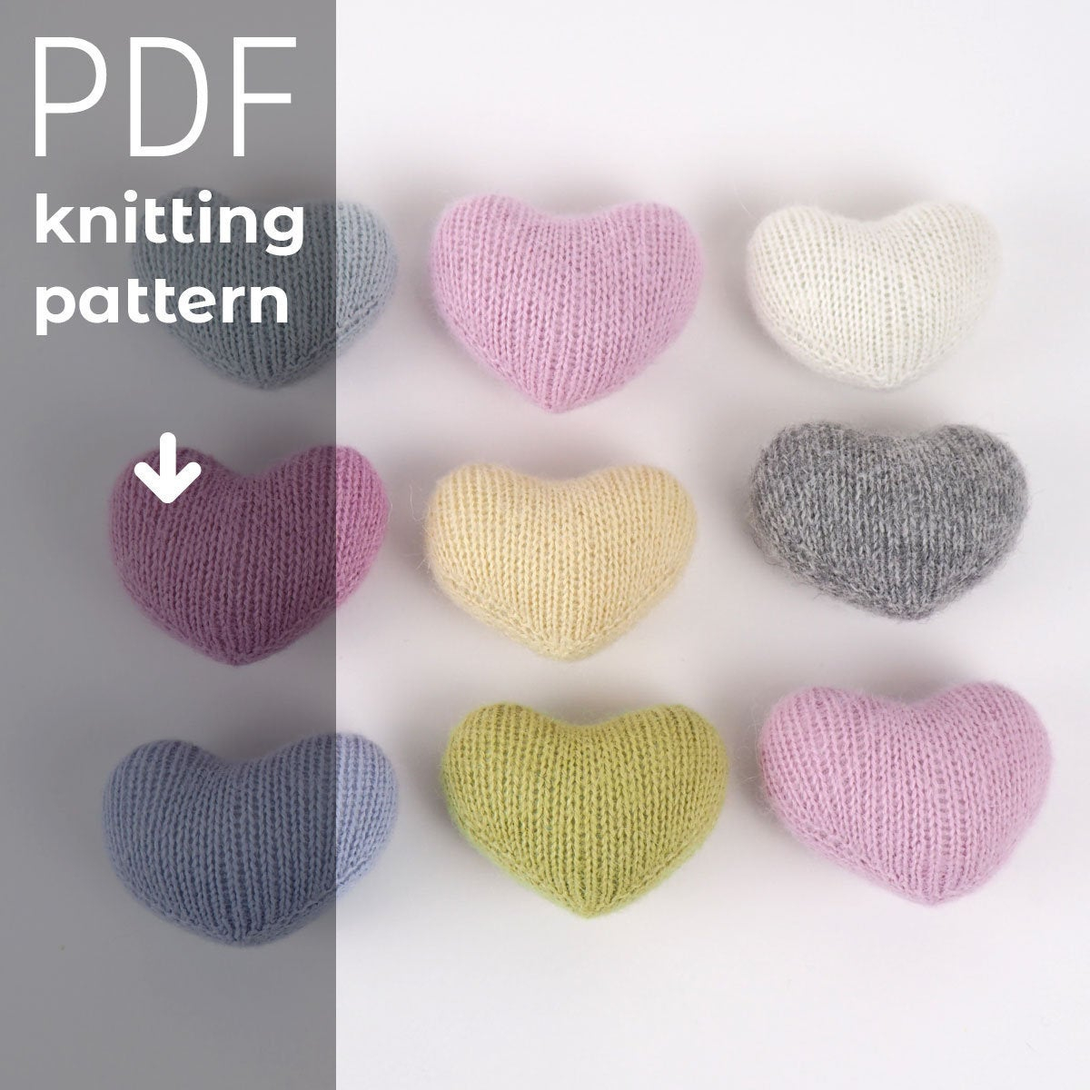Knitted Heart Pattern Heart Toy Knitting Pattern Knitted Heart Pdf Tutorial Instant Download Newborn Photo Prop Knitted Heart Pdf Pattern Photo Prop Pattern