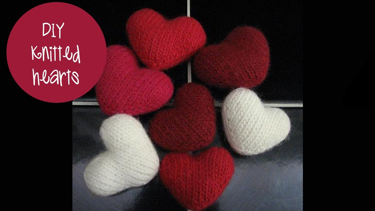 Knitted Heart Pattern Knitting Tutorial Puff Heart