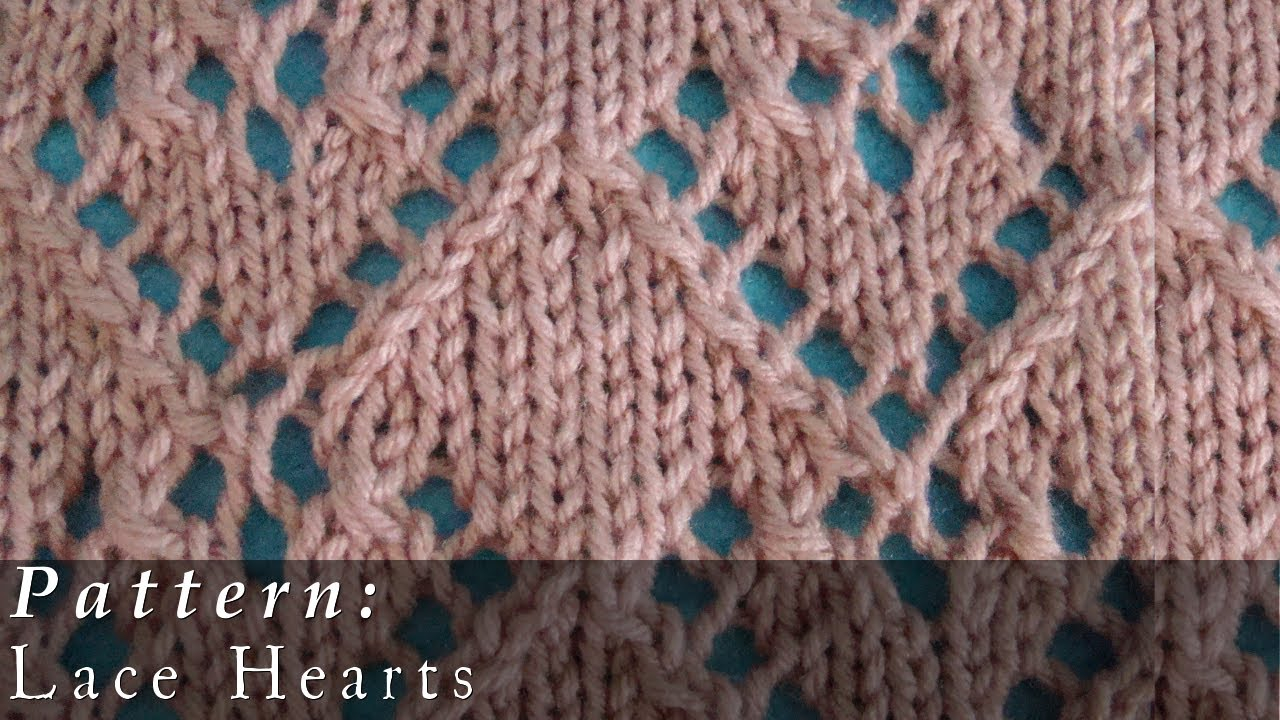 Knitted Heart Pattern Pattern Lace Hearts