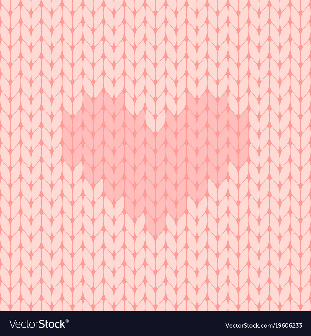 Knitted Heart Pattern Pink Knitted Seamless Pattern With Heart