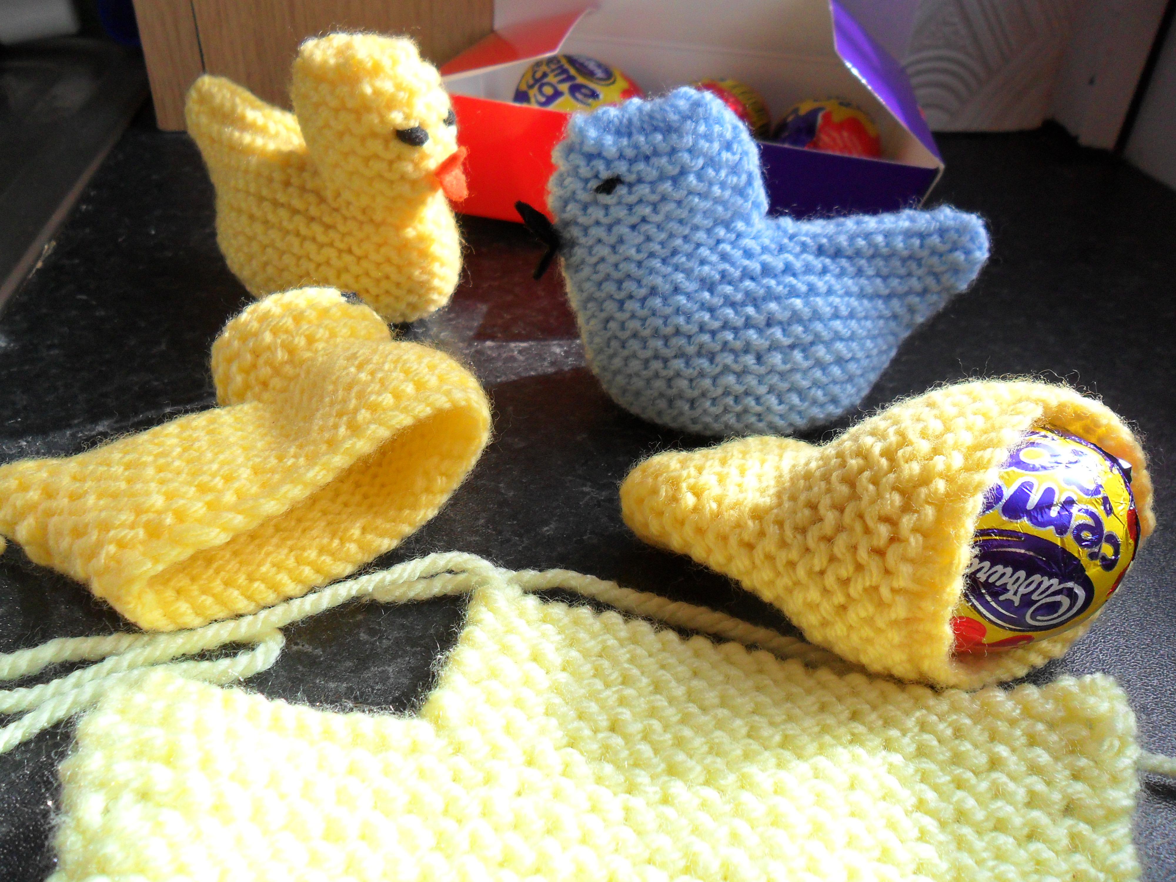 Knitted Hen Pattern Easter Chick Easy Knit Eviesgran