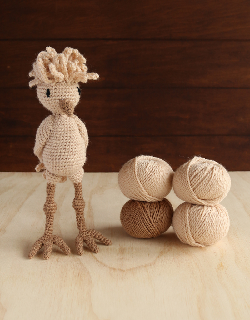 Knitted Hen Pattern Ruth The Buff Laced Polish Chicken Kit