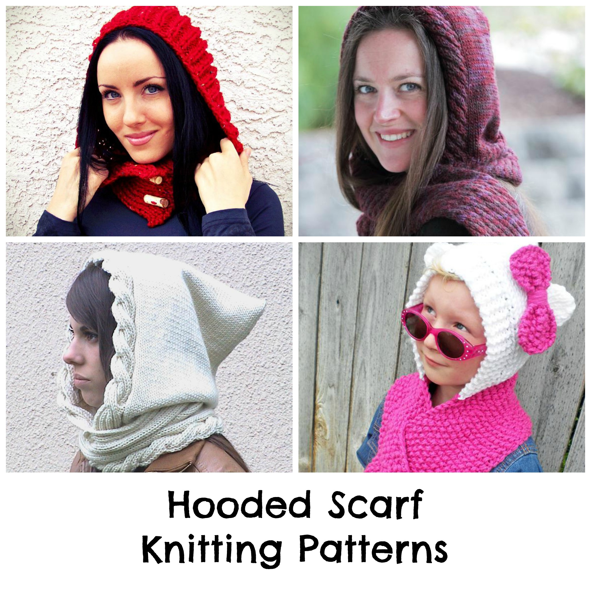 Knitted Hood Scarf Pattern Find The Perfect Hooded Scarf Knitting Pattern