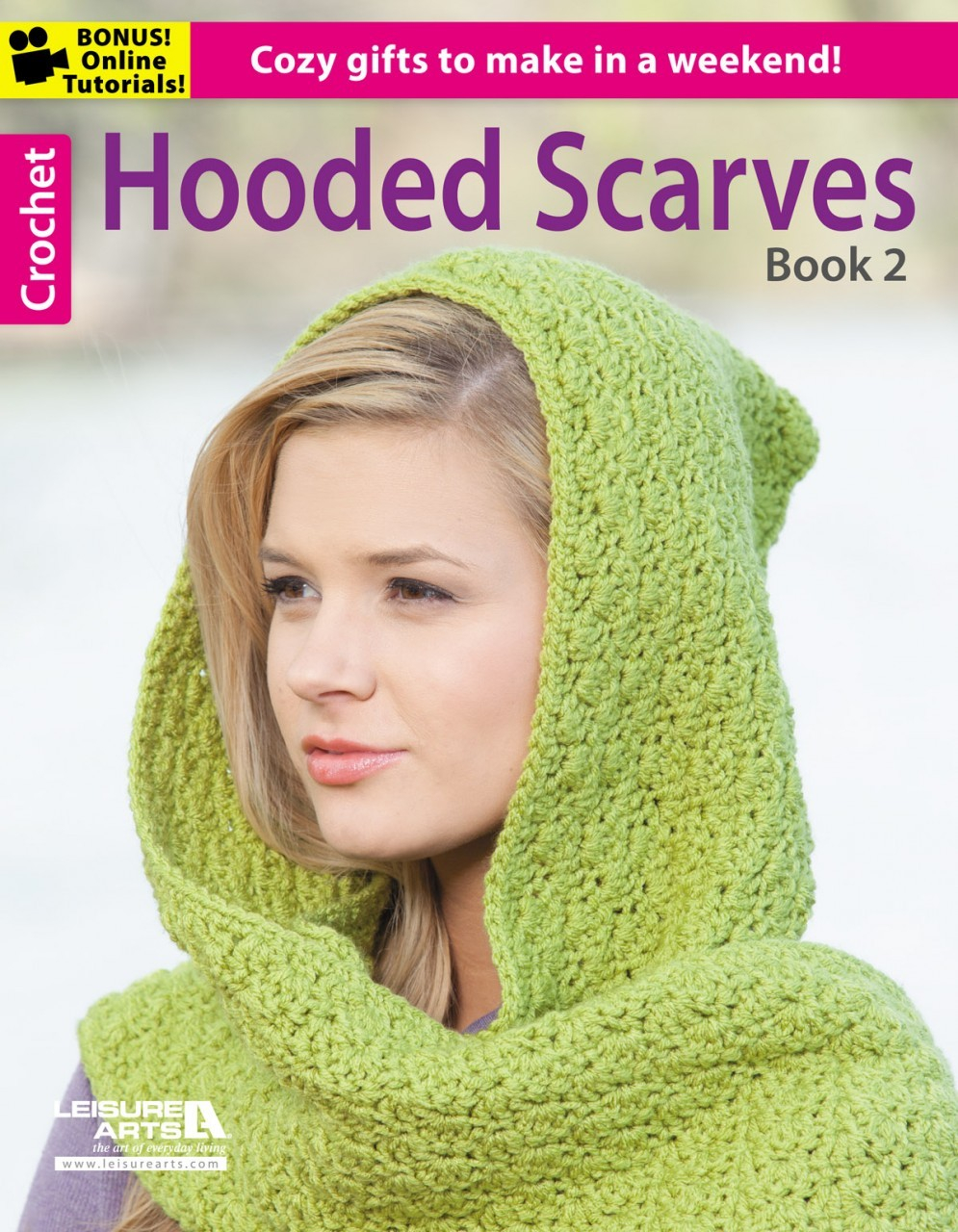 Knitted Hood Scarf Pattern Hooded Scarves Book 2