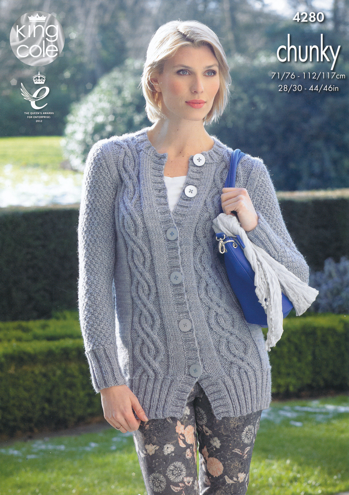 Knitted Jacket Patterns Details About King Cole Womens Chunky Knitting Pattern Ladies Short Long Sleeved Cardigan 4280
