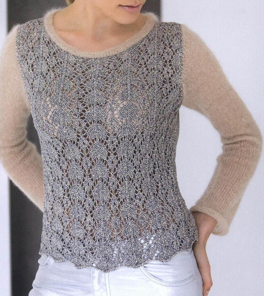 Knitted Jacket Patterns Free Free Knitting Pattern Lace Pullover