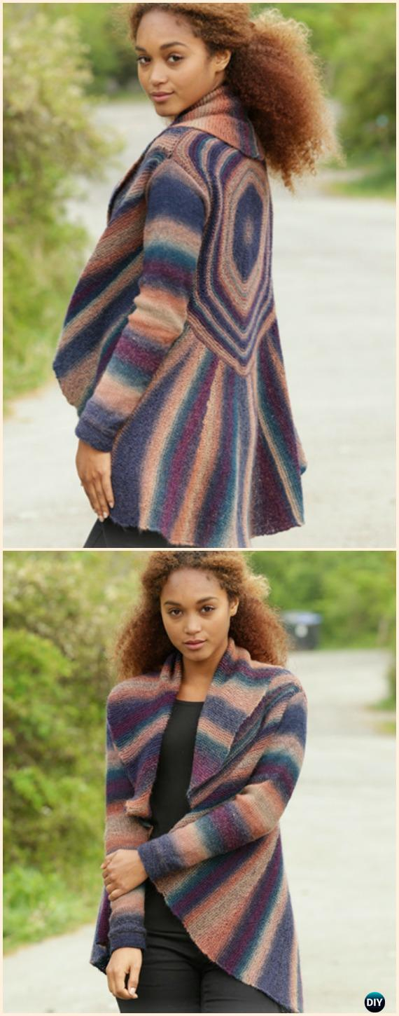 Knitted Jacket Patterns Free Knit Women Cardigan Sweater Coat Free Patterns