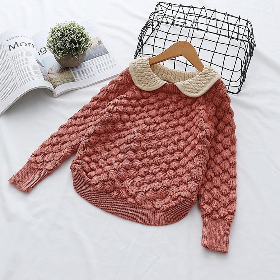 Knitted Jacket Patterns Free Spring Autumn Toddler Ba Girl Cable Knit Sweater Lovely Kid Pullover Sweater Cotton Long Sleeves Winter Children Clothing