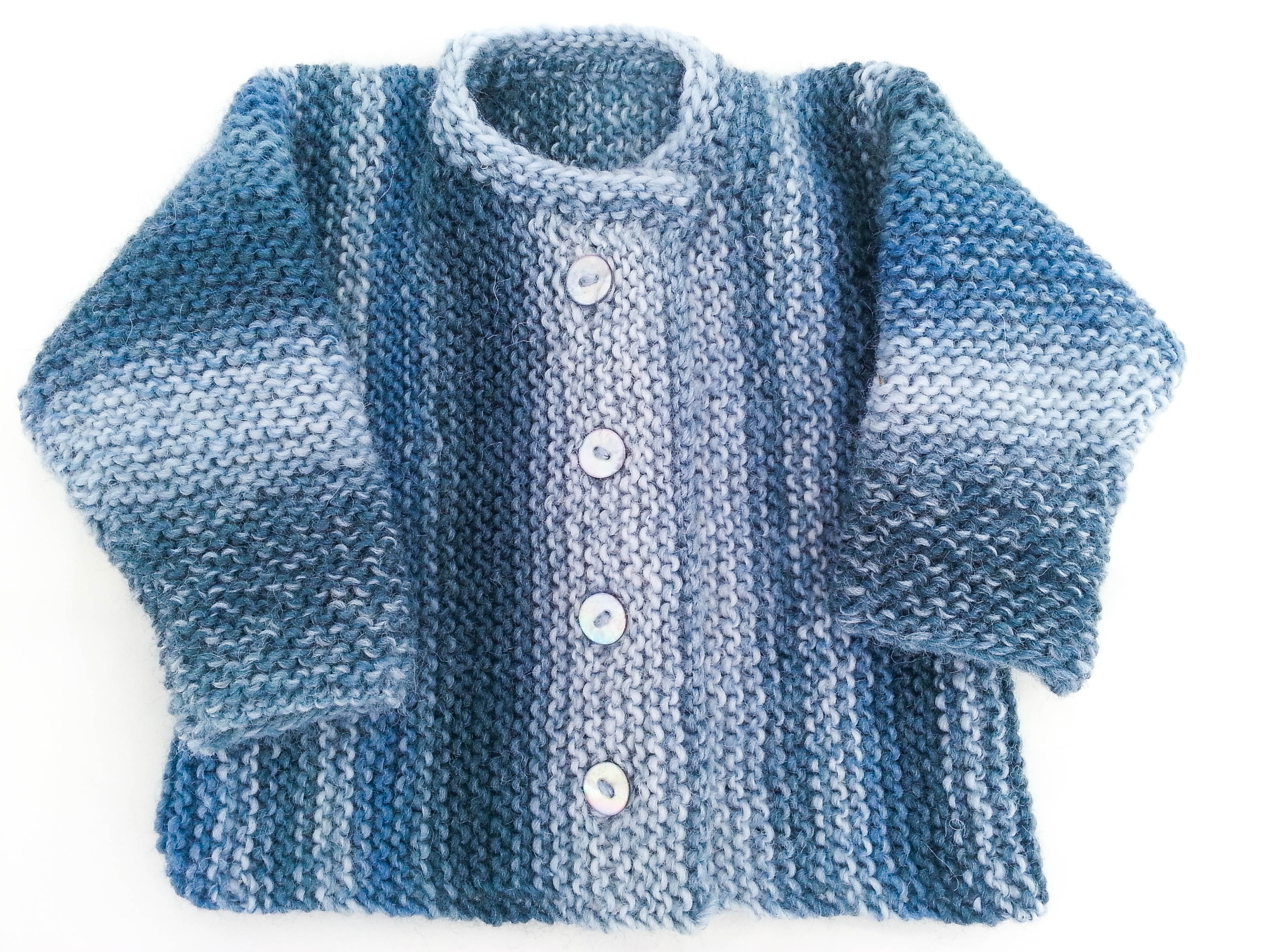 Knitted Jacket Patterns Knitting Pattern Garter Stitch Ba Cardigan One Piece Ba Sweater 5 Sizes Easy Pattern Toddler Buttoned Sweater