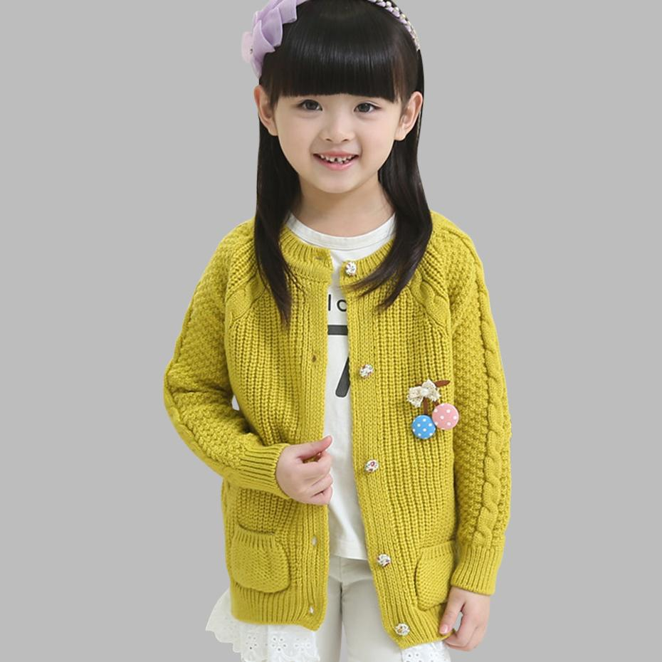 Knitted Jacket Patterns Teenage Girls Sweater Causal Lace Girls Knitted Sweater 6 8 10 12 Kids Outerwear Spring Autumn Kids Clothes
