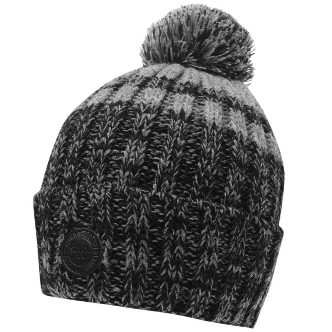 Knitted Mens Hat Patterns Details About Soulcal Mens Alutu Hat Bobble Pattern Knitted
