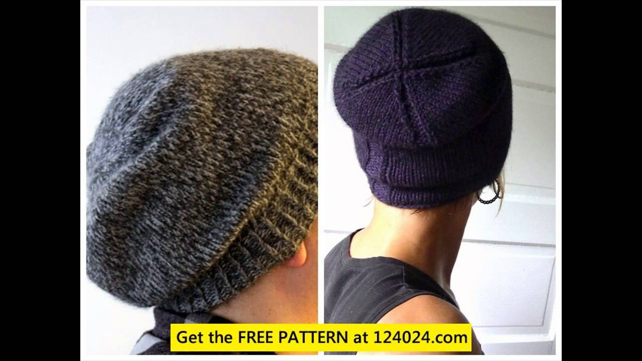 Knitted Mens Hat Patterns How To Knit A Slouchy Beanie Free Beanie Knitting Pattern Knit Beanie Men