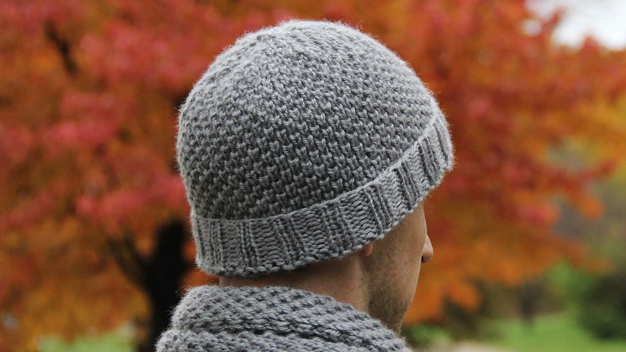 Knitted Mens Hat Patterns How To Knit Mens Hat Video Tutorial With Detailed Instructions
