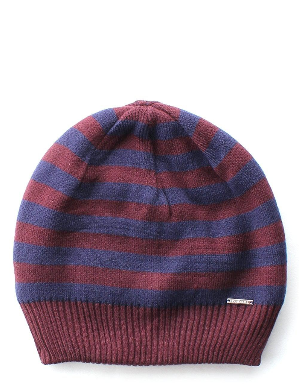 Knitted Mens Hat Patterns Mens Striped Knitted Hat Pattern