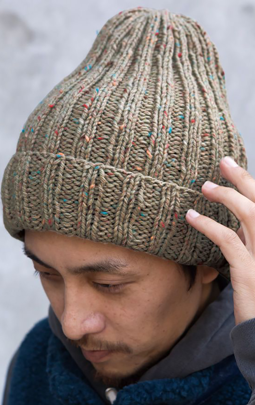 Knitted Mens Hat Patterns Ribbed Hat Knitting Pattern Free