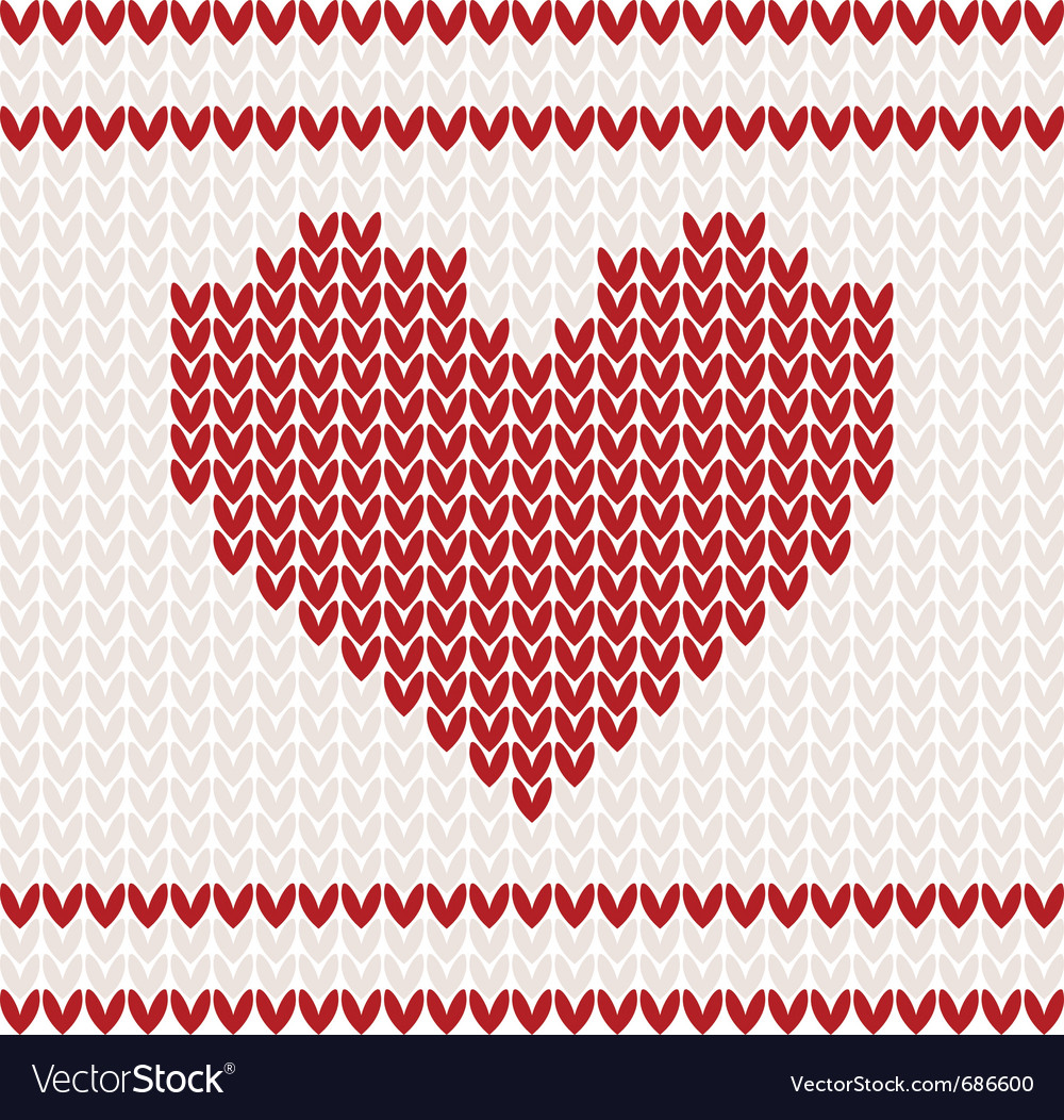 Knitted Pattern Heart Knitted Pattern