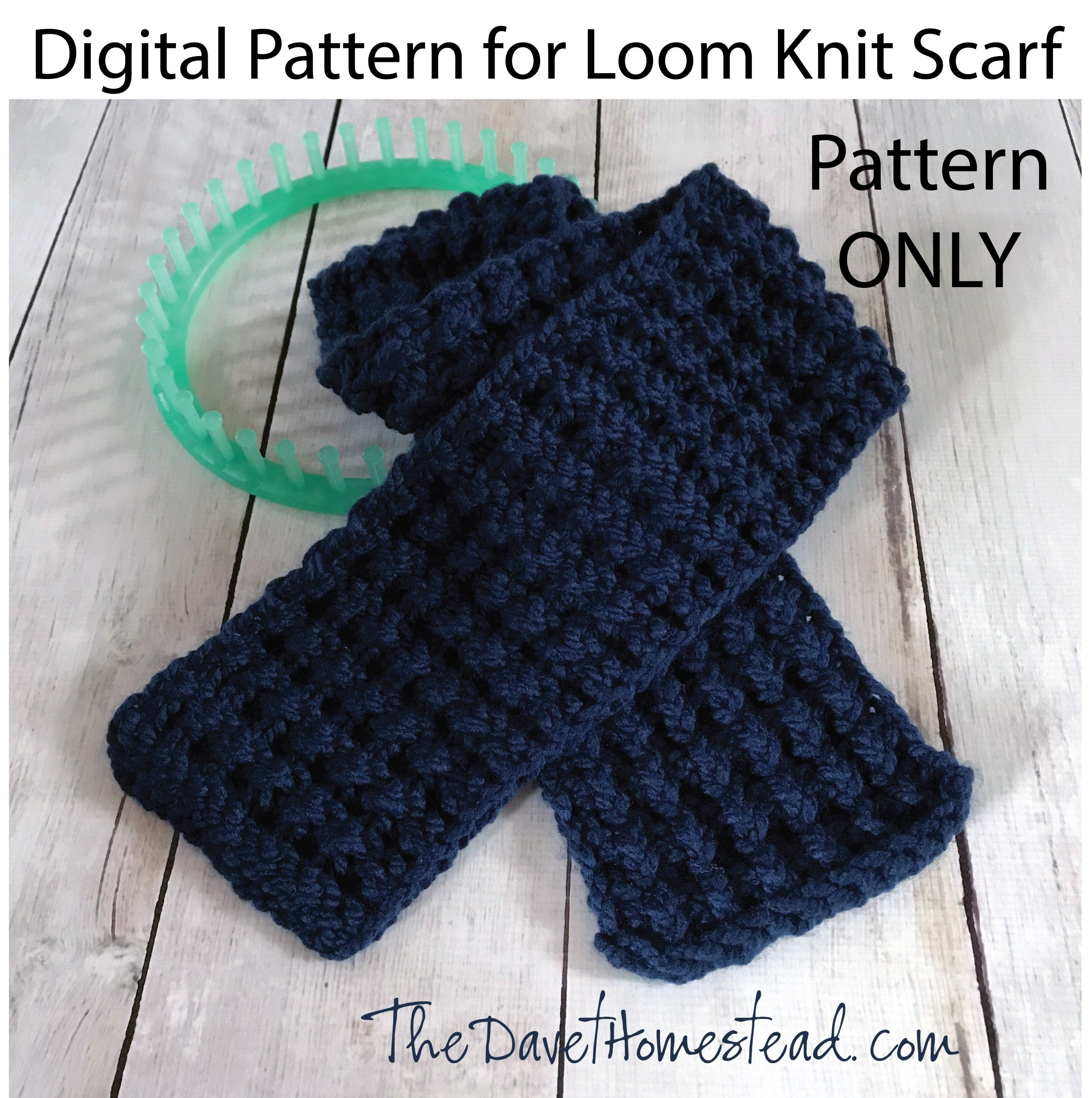 Knitted Pattern Hurdle Stitch Scarf Loom Knitted Pattern And Video Tutorial