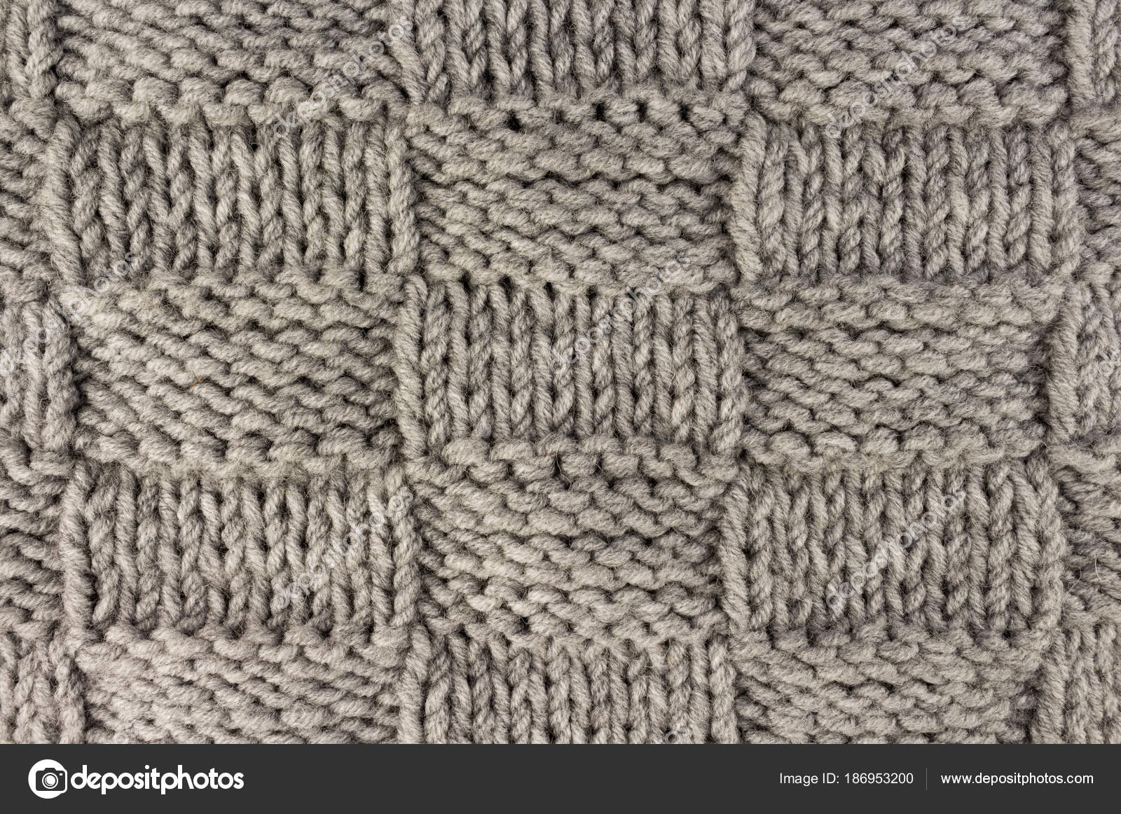 Knitted Pattern Knitting Gray Knit Fabric Texture Background Or Knitted Pattern