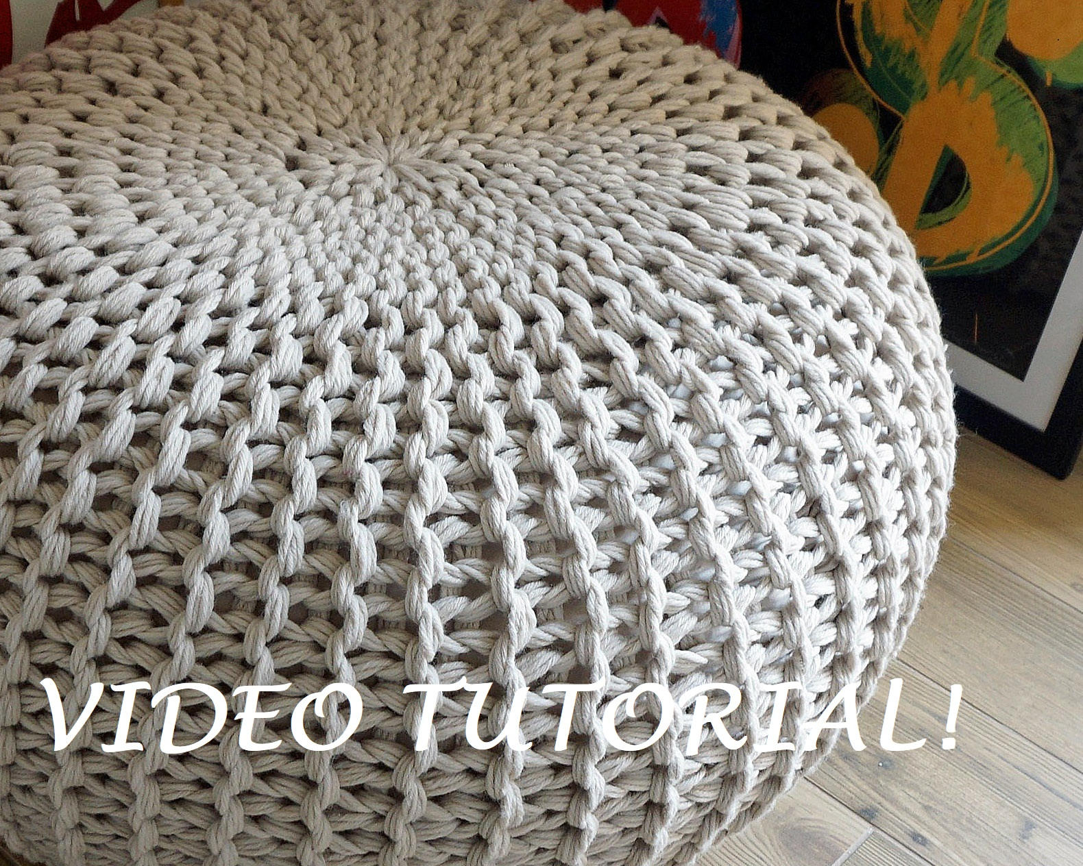 Knitted Pattern Knitting Pattern Knitted Pouf Pattern Poof Knitting Ottoman Footstool Home Decor Pillow Bean Bag Pouffe Floor Cushion Medium And Large