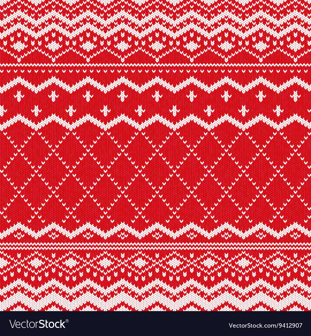 Knitted Pattern Scandinavian Knitted Pattern Or Nordic Ornament