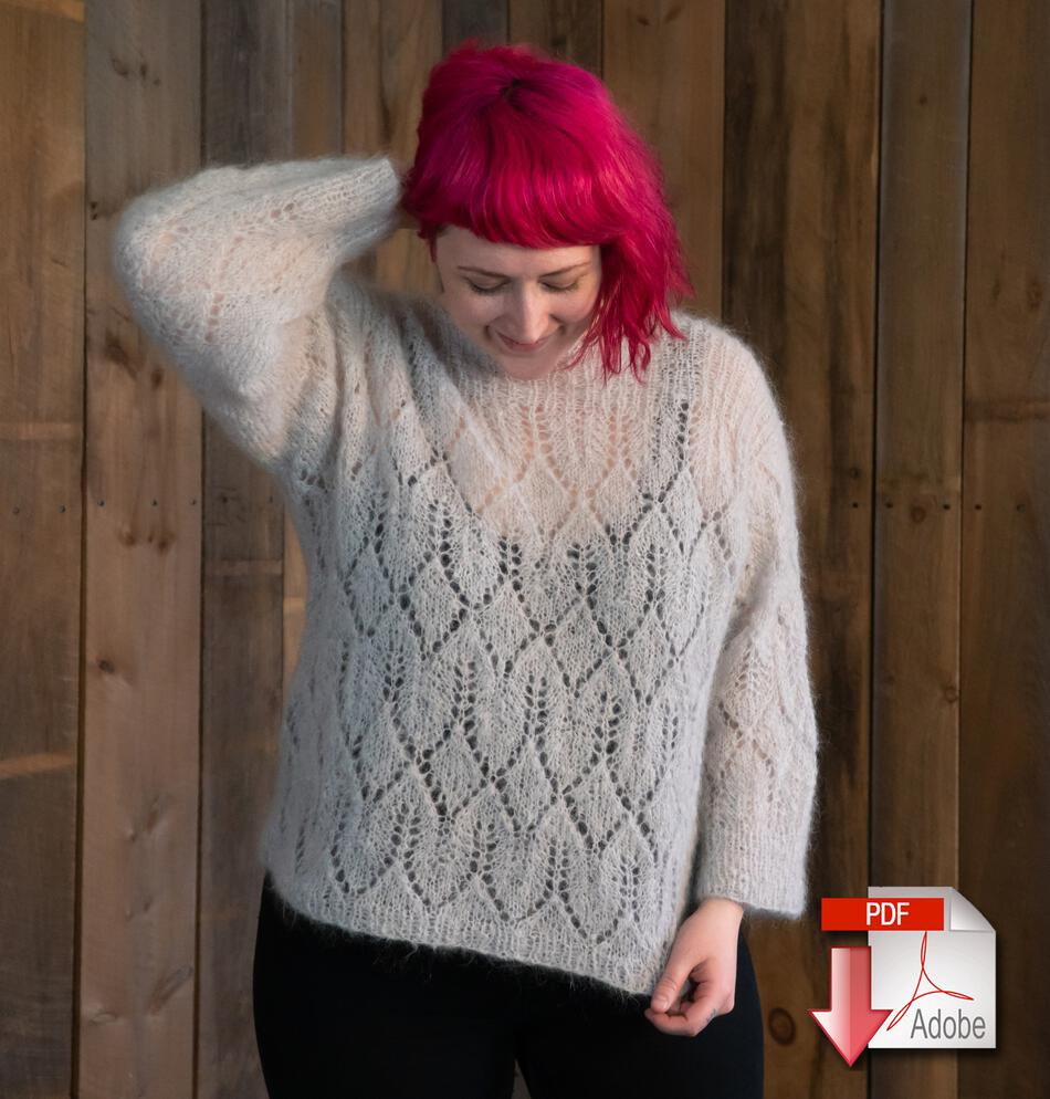 Knitted Pullover Sweater Patterns Atmosphere Lace Mohair Pullover Sweater Pattern Download Knitting Pattern Free With Yarn Purchase