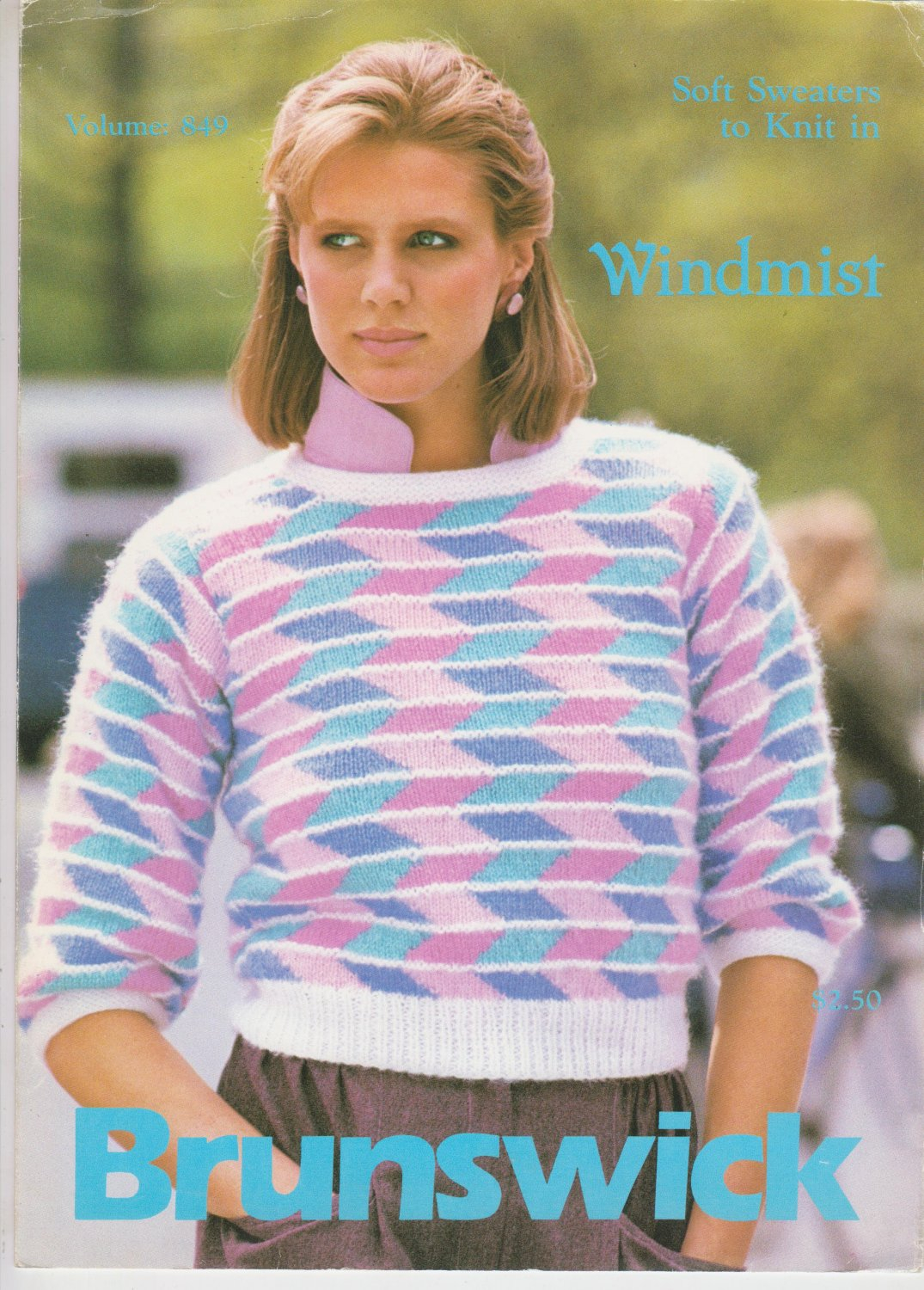 Knitted Pullover Sweater Patterns Brunswick 1983 Knitting Pattern Leaflet Volume 849 To Knit Pullover