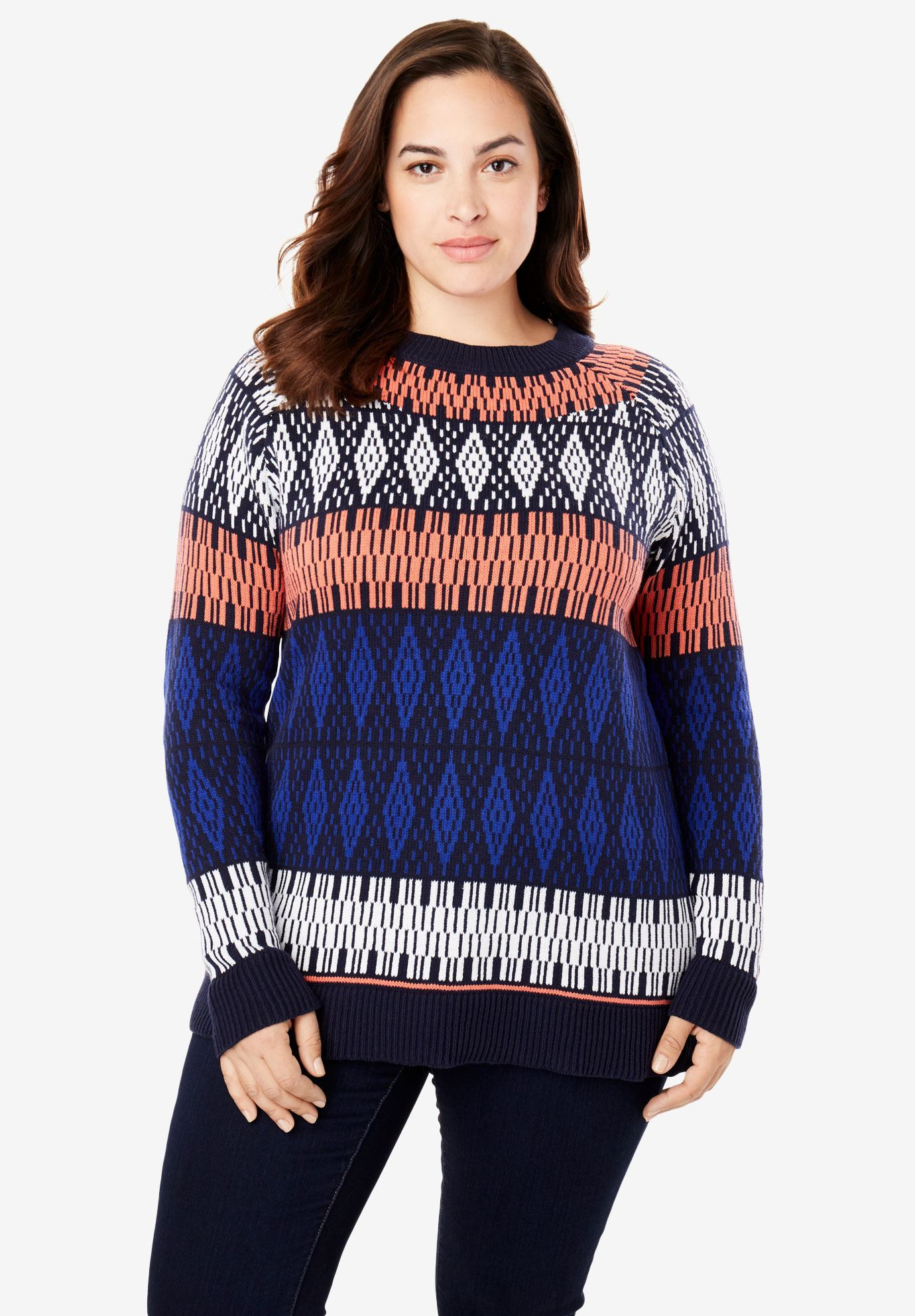 Knitted Pullover Sweater Patterns Fair Isle Knit Pullover Sweater