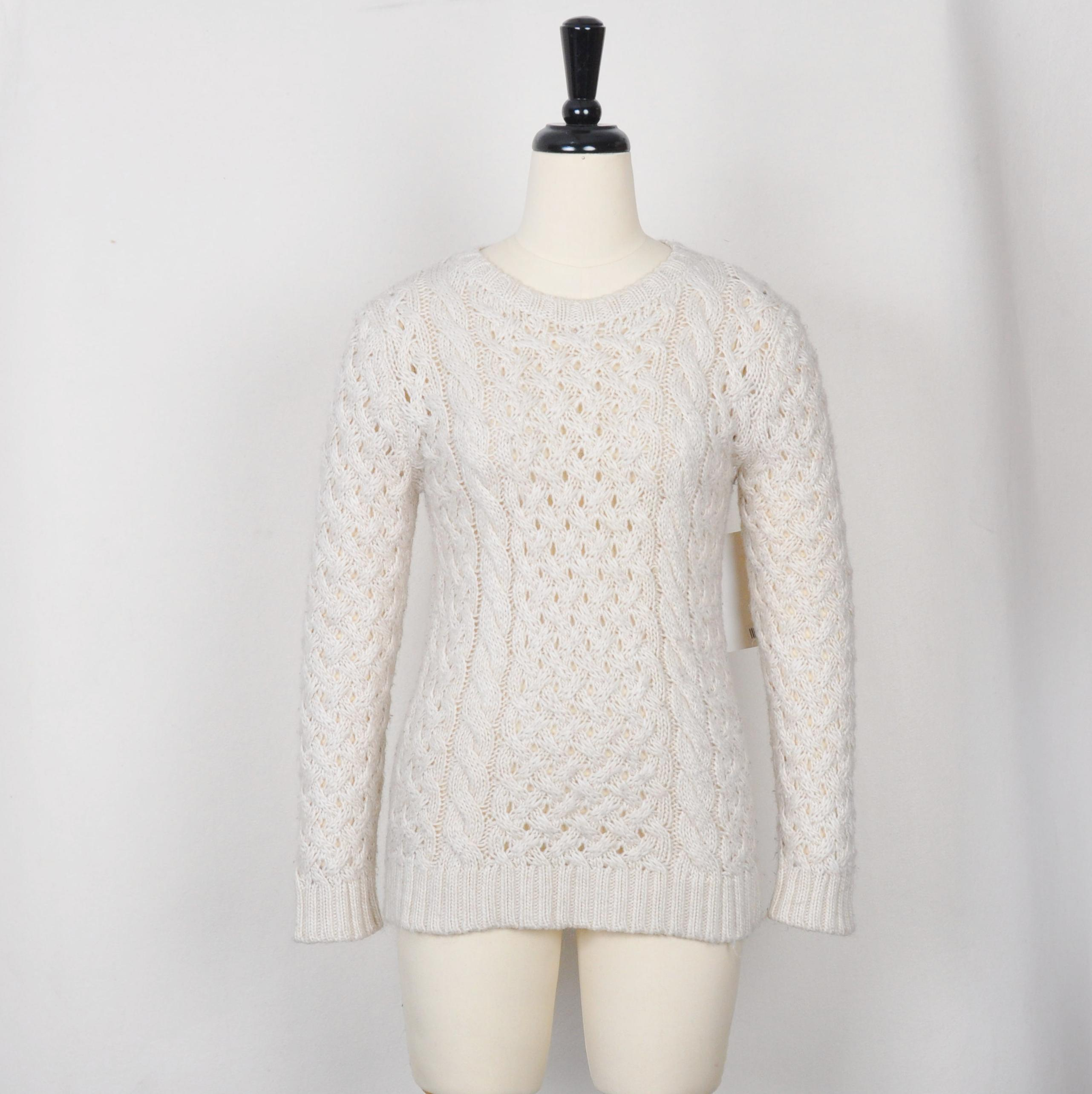 Knitted Pullover Sweater Patterns Hot Item Mohairwool Blend Chunky Cable Knit Pullover Sweater For Women