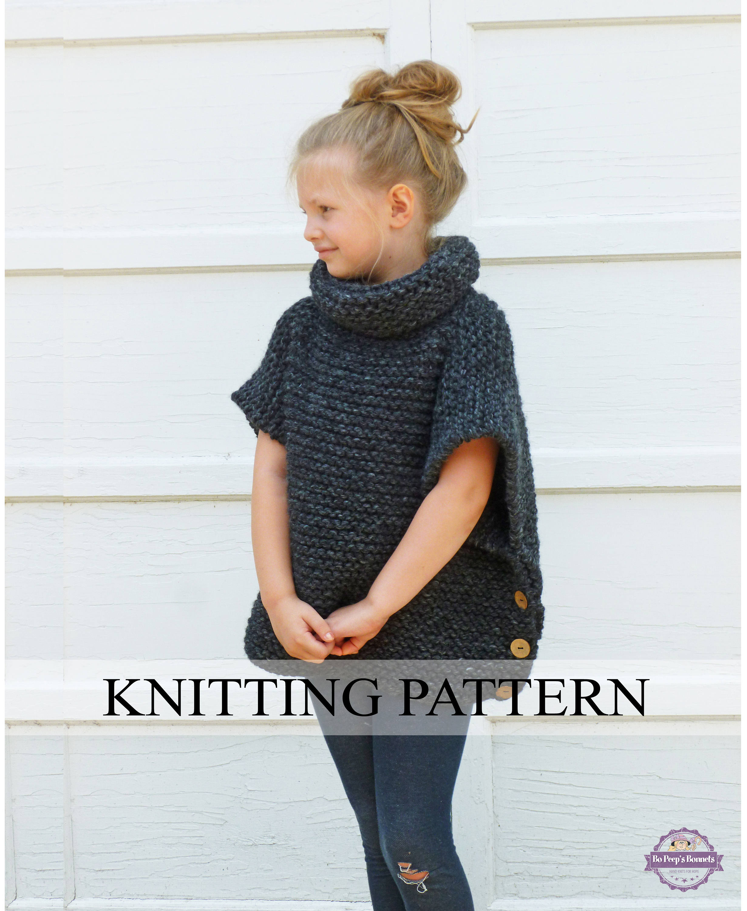 Knitted Pullover Sweater Patterns Knitting Pattern The Sophie Sweater Toddler Child Adult Sizes Knitted Pullover Easy Sweater Pattern Poncho Cape Chunky Knit