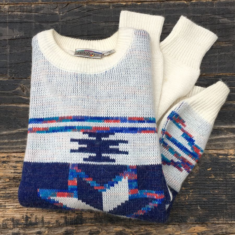 Knitted Pullover Sweater Patterns Navajo Pattern Knit Pullover Sweater