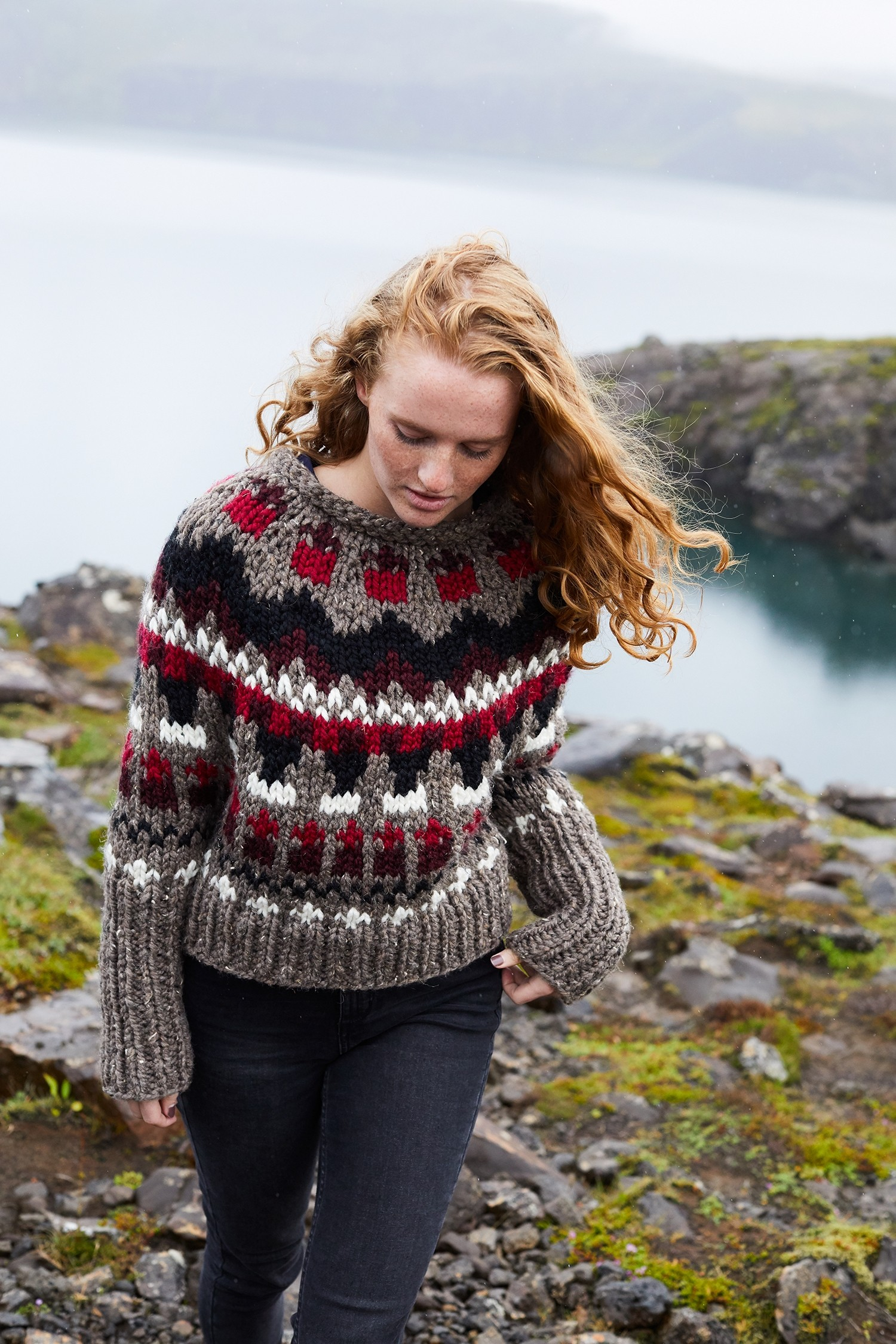 Knitted Pullover Sweater Patterns The Yoke Sweater Trend In 13 Patterns Lion Brand Notebook