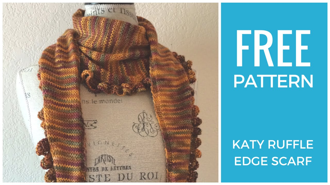 Knitted Ruffle Scarf Pattern Easy Ruffle Scarf Free Knitting Pattern