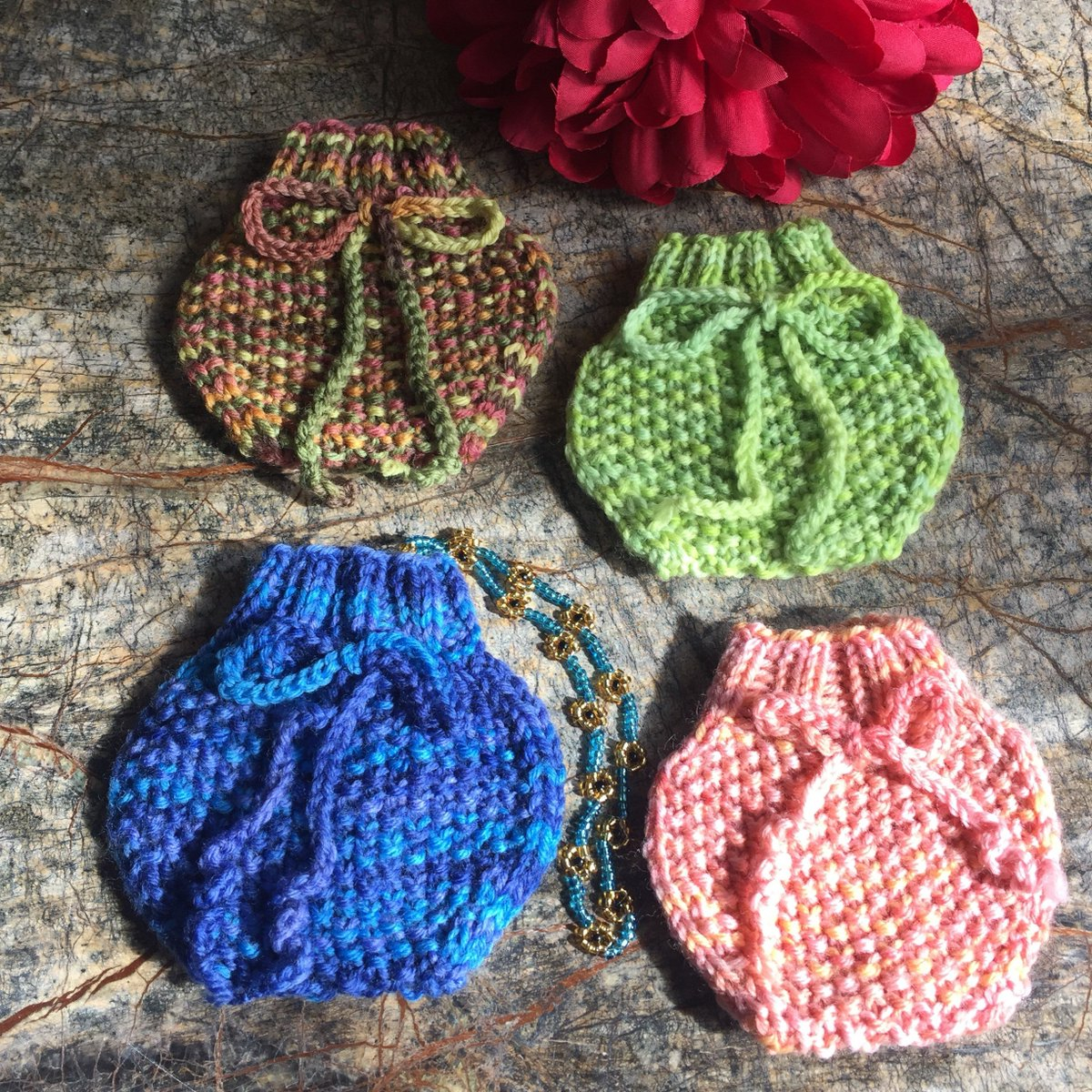 Knitted Sachet Pattern Concettascraftss Tweet Hand Knitted Pouch Gift Bag Necklace