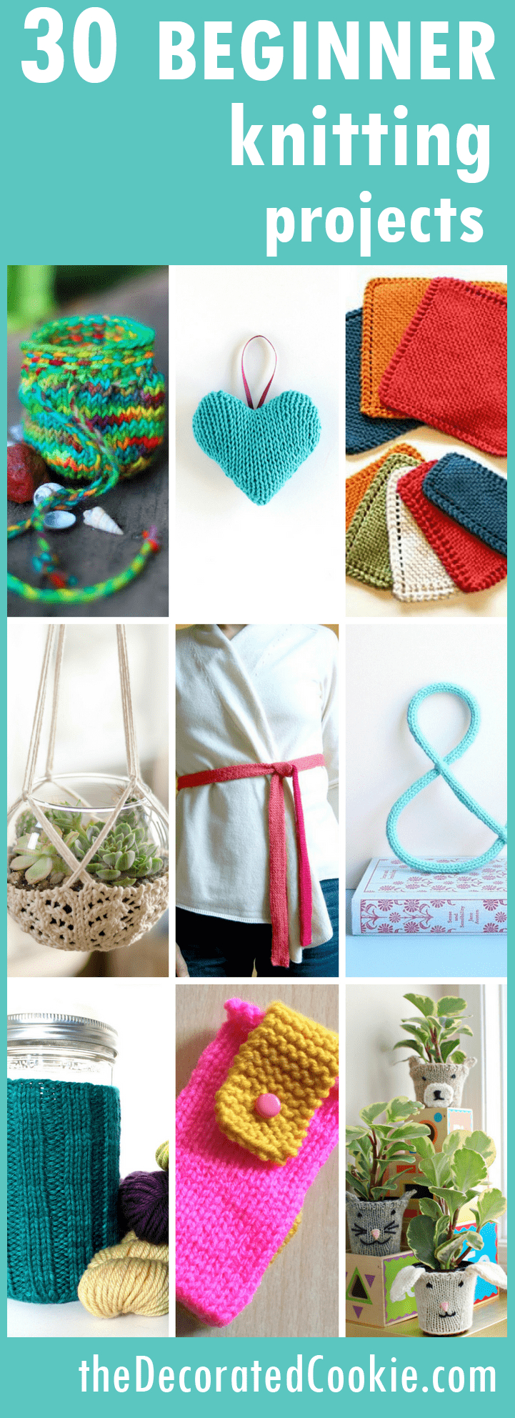 Knitted Scarf Patterns Pinterest Knitting For Beginners A Roundup Of 20 Easy Knitting Projects