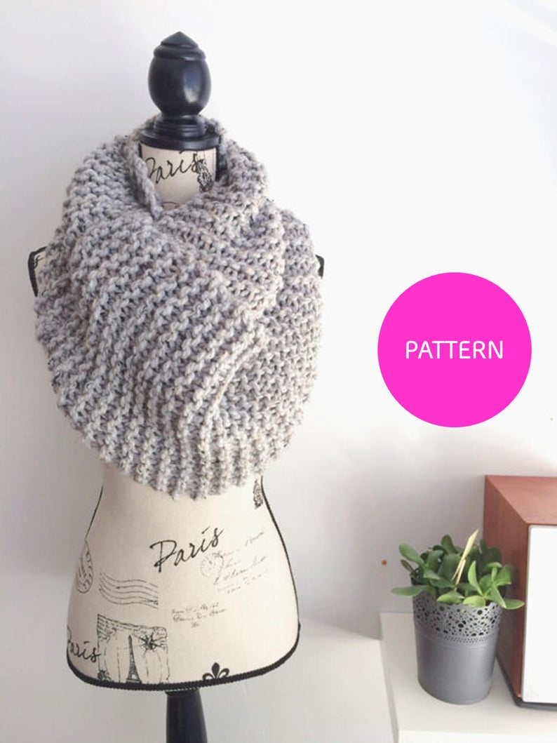 Knitted Scarf Patterns Pinterest Knitting Pattern The Pinterest Goals Scarf Extra Large Scarf Pattern Beginner Knit Knitting Pattern Beginner Knit Pattern Simple Garter