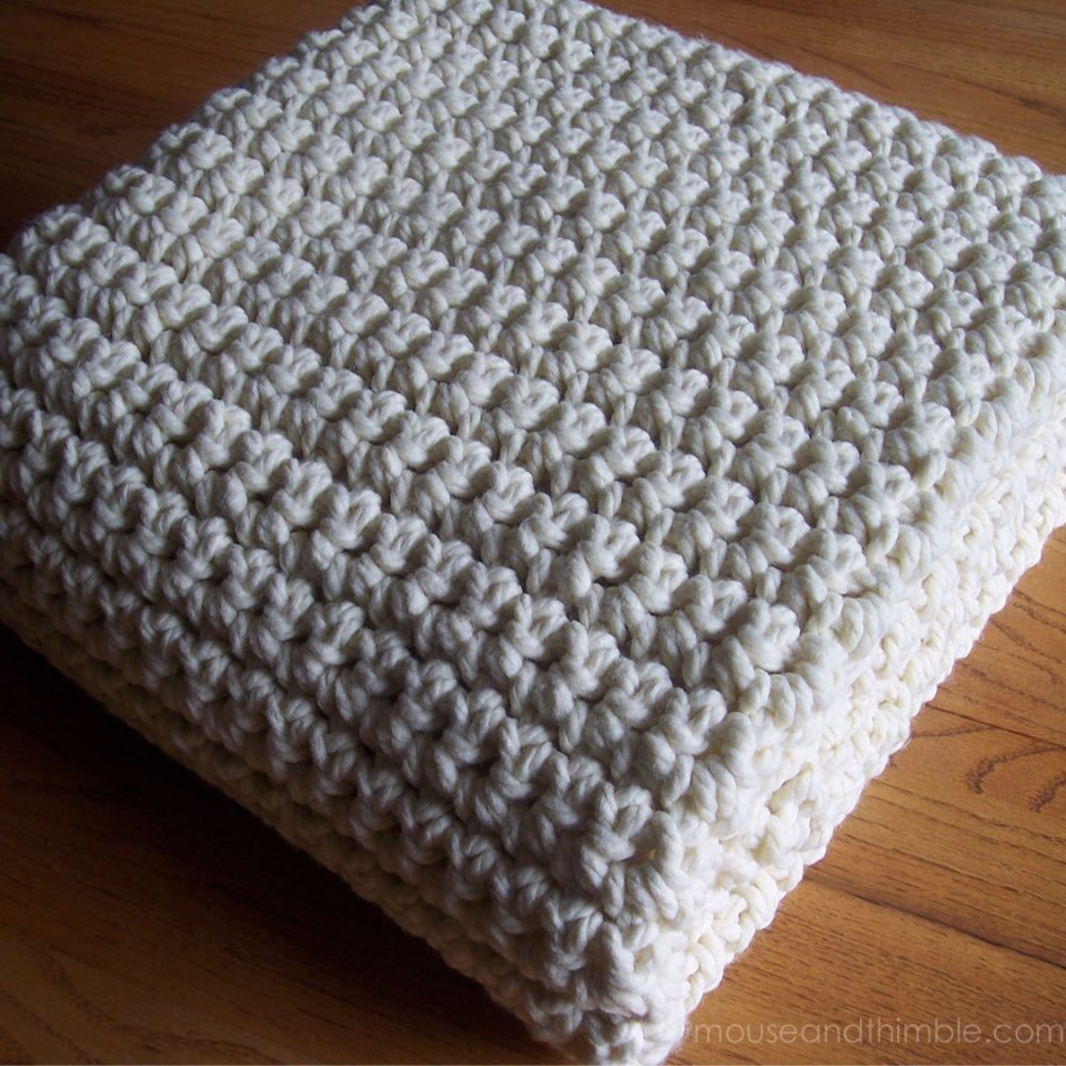 Knitted Squares Patterns Free Crochet Pattern Quick Easy Extra Large Chunky Afghan Wool Ba