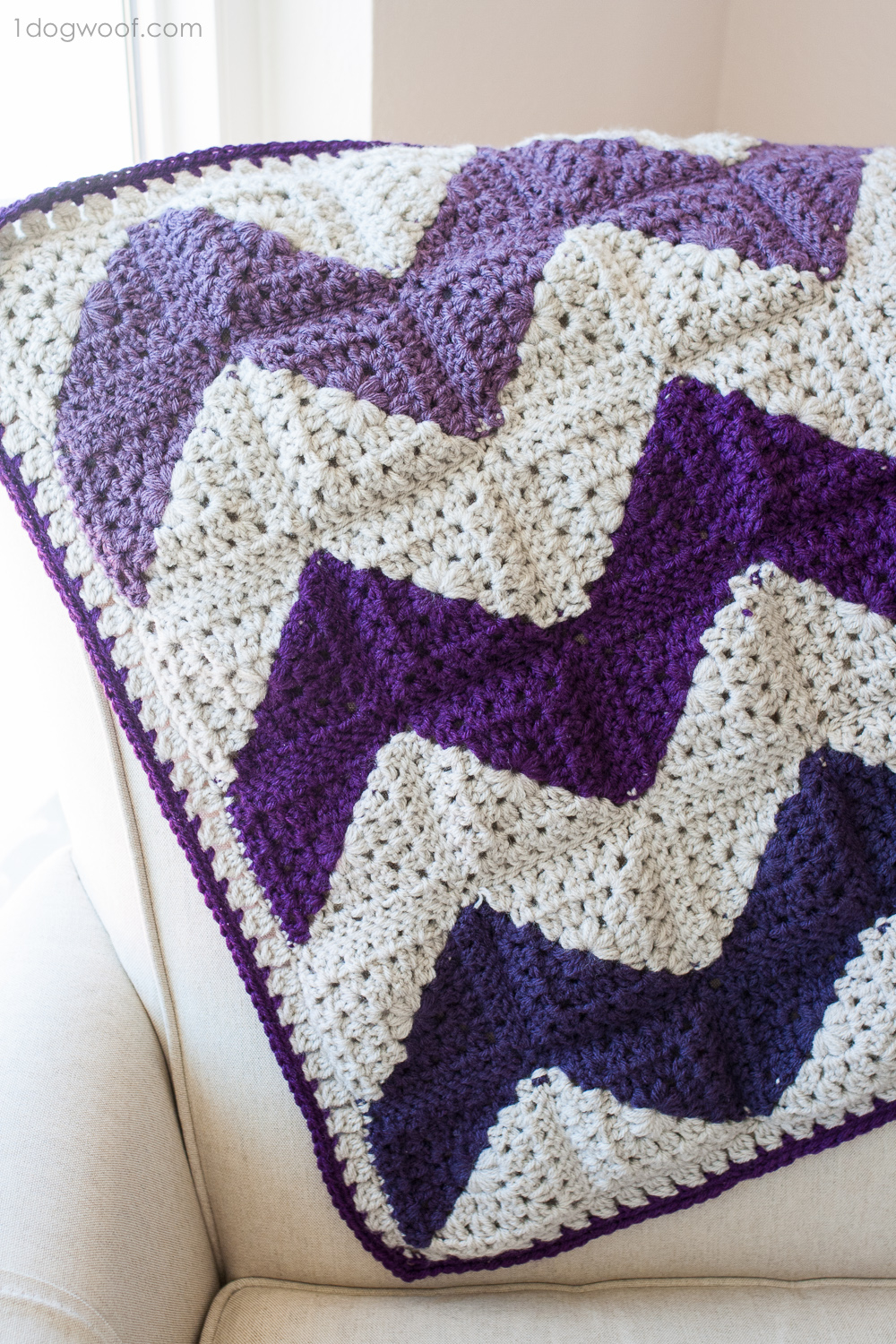 Knitted Squares Patterns Free Granny Squares Chevron Afghan Crochet Pattern One Dog Woof