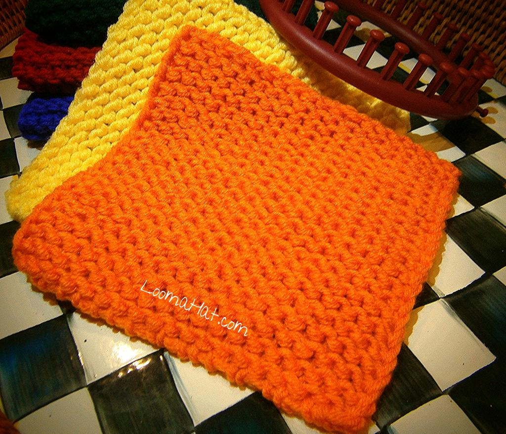 Knitted Squares Patterns Free Loom Knit Squares Loomahat